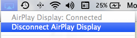 Airplay disconnect