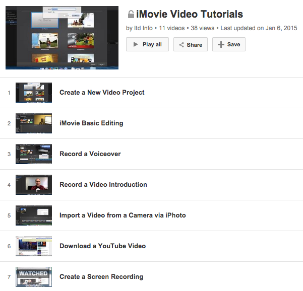 iMovie Video Tutorials