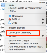 Dictionary lookup
