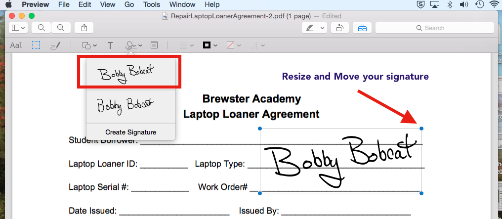 Sign Documents Using the Preview App and Camera – Brewster