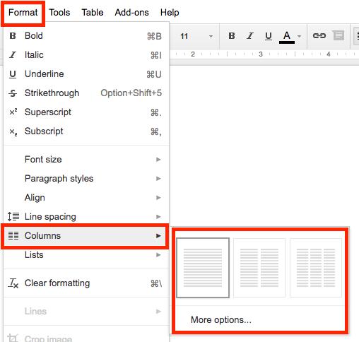 Columns In Google Docs Brewster Academy Blogs - Google docs columns